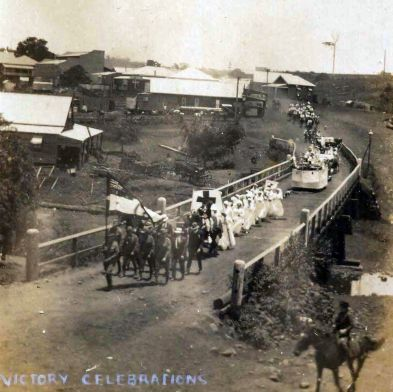 Victory celebrations in Maleny at end WW1